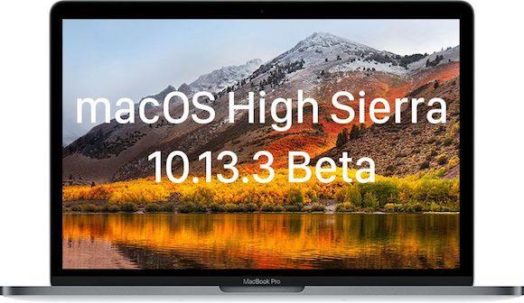 macOS High Sierra 10.13.3ベータ