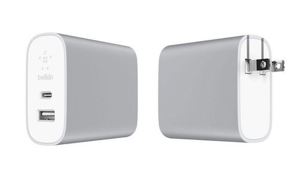 Belkin デュアルポートホーム充電器27W + USB-C to USB-Aケーブル