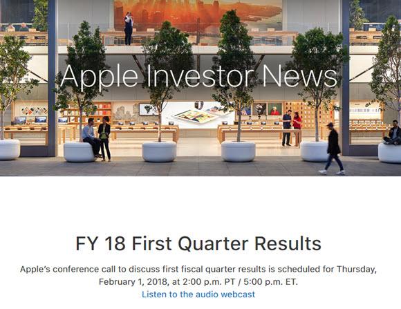 Apple 2018年第1四半期 決算