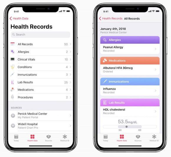 iOS11.3 ヘルスケア