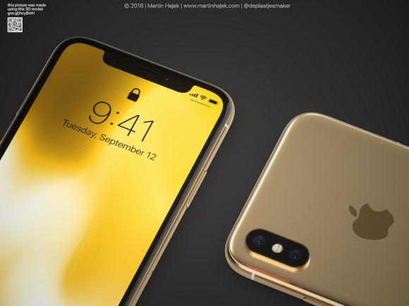 iPhoneX ゴールド Martin Hajek