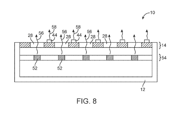 Apple センサー 埋め込み 特許 USPTO
