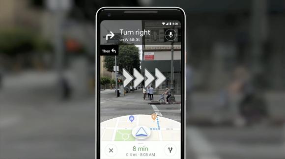 Google MapにAR機能を搭載