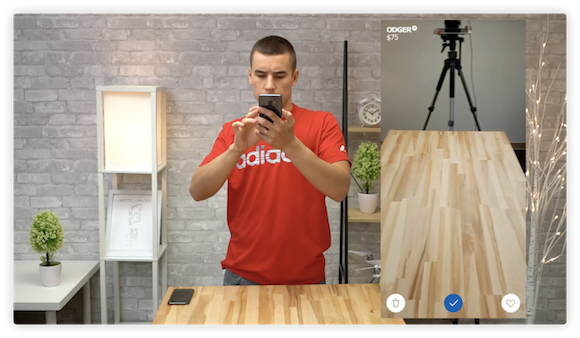 ARアプリ対決 AppleInsider Galaxy S9+