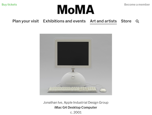 MoMA iMac G4