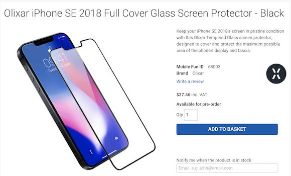 Olixar iPhone SE 2 ガラスフィルム
