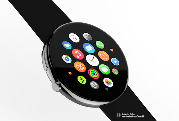 円形 Apple Watch コンセプトデザイン Alcion Design