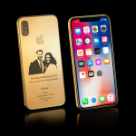 iPhoneX-Royal-Wedding-Gold-Elite-standing-diamond-Cluster
