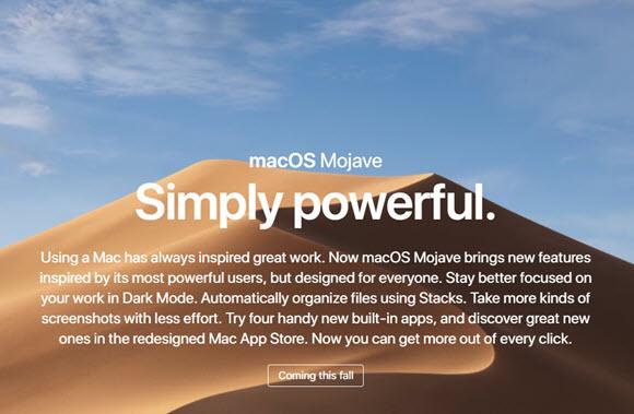 Mojave 公式イメージ
