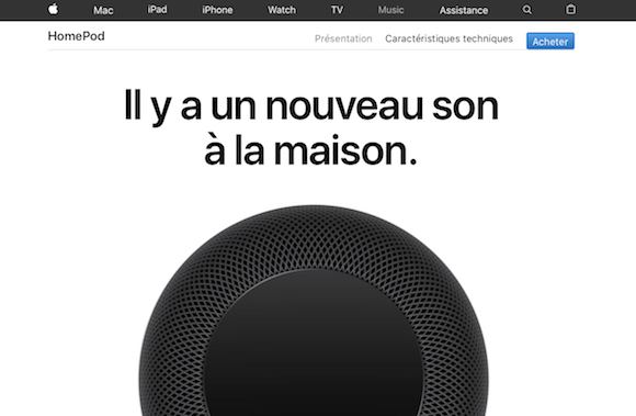 HomePod Apple フランス