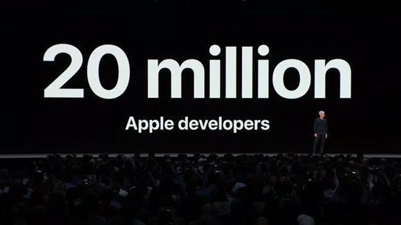 WWDC18 Apple 開発者数