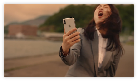 NTTドコモ CM iPhone X「紅の空に」
