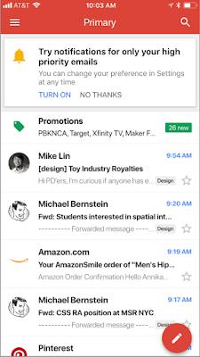 Google Gmail 通知