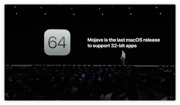 Apple WWDC 18 「Platforms State of the Union」 macOS Mojave 32ビットアプリ