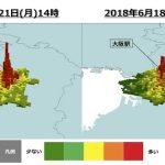 NTTドコモ モバイル空間統計 大阪地震