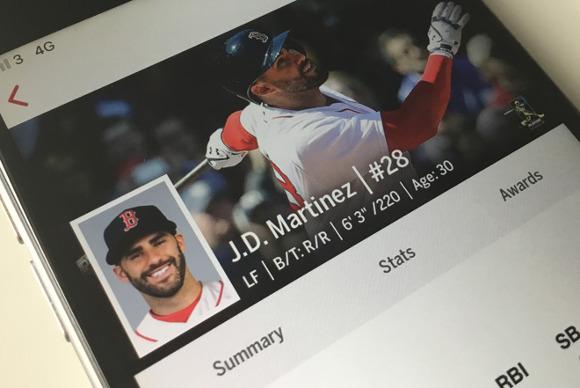 ボストン・レッドソックスの外野手、iPadを使ったフォーム解析で成績の大幅改善に成功