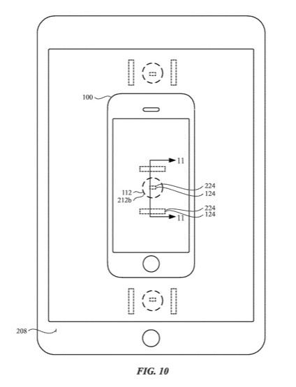 Apple 特許 端末間 ワイヤレス充電 USPTO Fig10