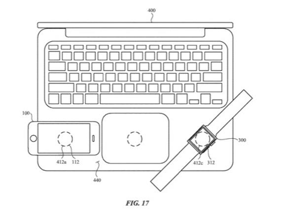 Apple 特許 端末間 ワイヤレス充電 USPTO Fig17