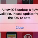 iOS12ベータ11バグ