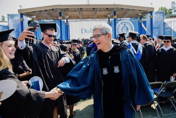 Tim Cook Twitter Duke University