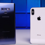 gaalxy note 9 iphone x 実験 youyube 比較