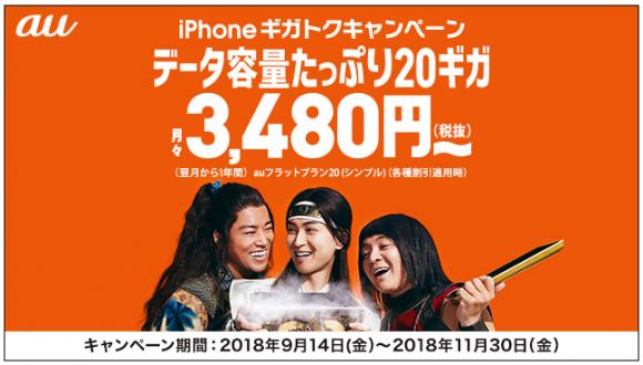 iPhoneギガトクキャンペーン