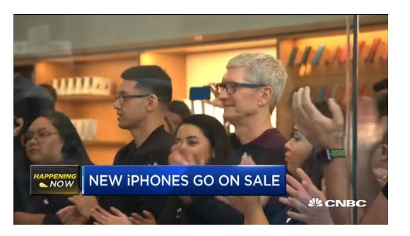 2018 ティム・クック apple store iphone xs 発売