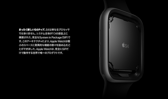 Apple Apple Watch Series 4 S4チップ