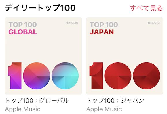 Apple Music デイリートップ100