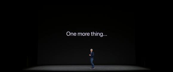 2017年9月 Apple スペシャルイベント One more thing...