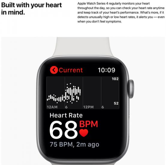 apple watch series 4 心拍数 心電図