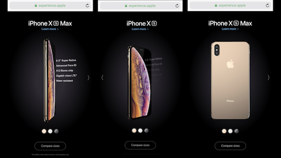 Apple experience iPhone XS iPhone XS Max