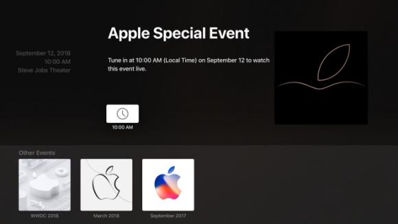 Apple TVイベントアプリ