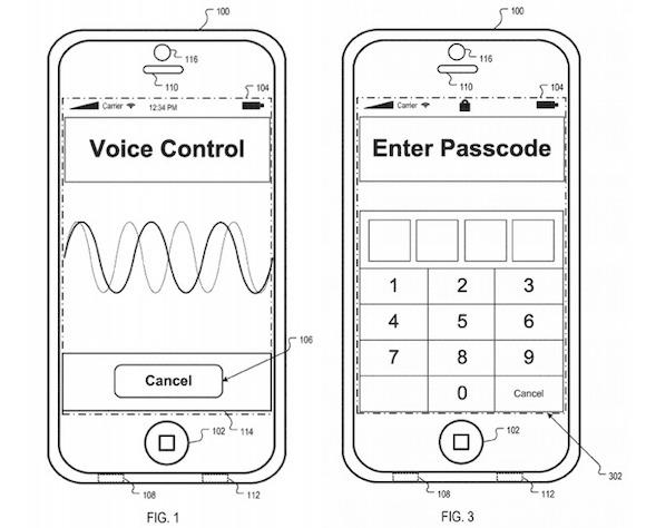 Apple 特許 声認証 Siri USPTO