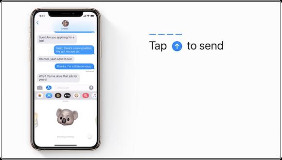 Apple Support アニ文字 送る方法