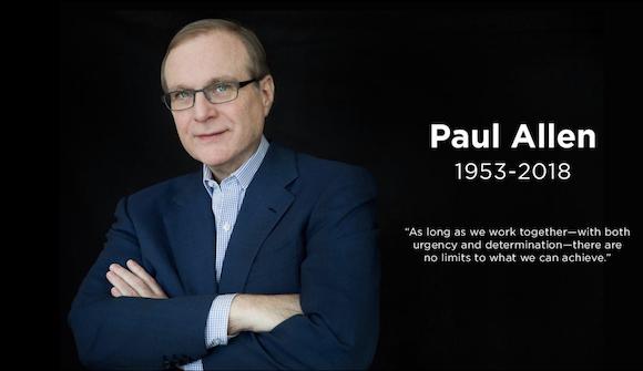 ビル・ゲイツ氏とともにMicrosoftを起業したポール・アレン氏、65歳で死去