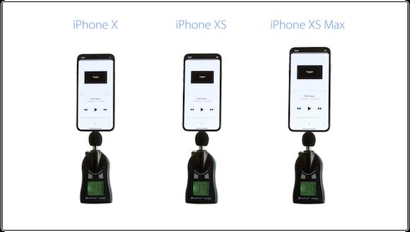 iClarified iPhone X iPhone XS iPhone XS Max スピーカー 比較