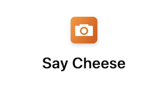 Say cheese Siriショートカット
