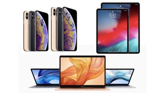 Apple 2018 iPhone iPad Pro MacBook Air