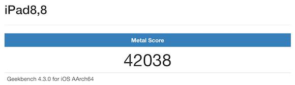 iPad Pro Geekbench Metal