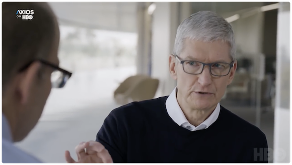 Apple ティム・クックCEO Axios YouTube