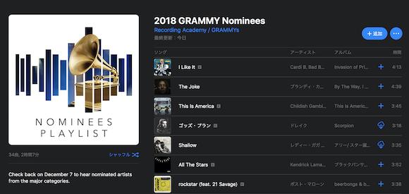 Apple Music 2019 Grammy Nominees グラミー賞