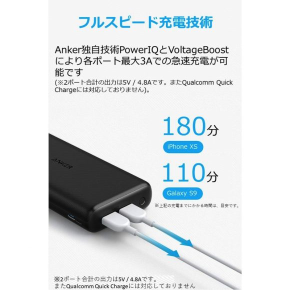 Anker PowerCore Lite 20000(2台同時充電)