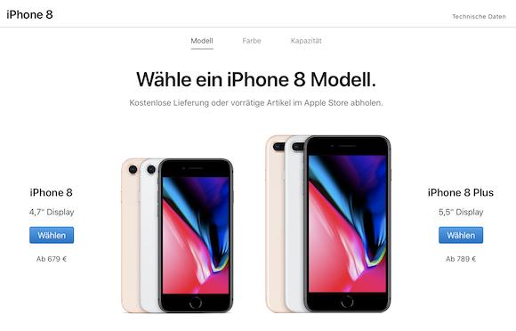Apple ドイツ iPhone8