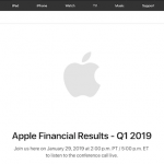Apple 2019会計年度第1四半期 業績発表