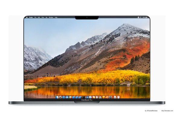 MacBook Pro Face ID ノッチ コンセプト Twitter DanielBonates