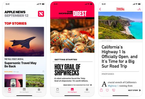 Apple News アプリ