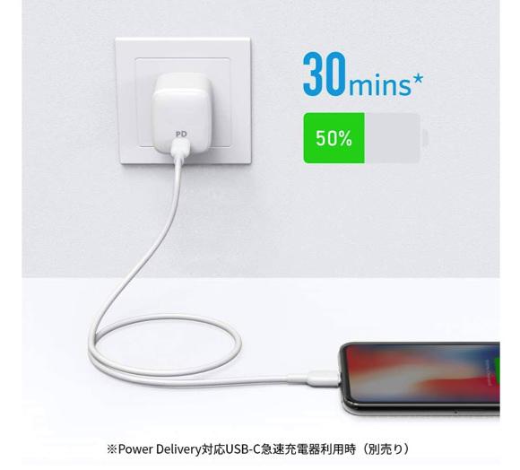 Anker PowerLine II USB-C & ライトニングケーブル