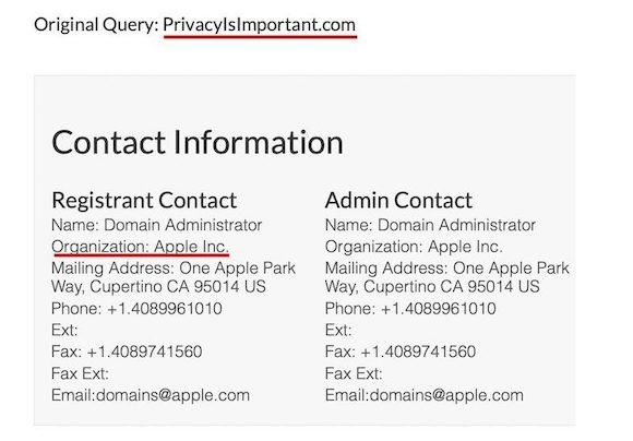 Apple PrivacyIsImportant.com