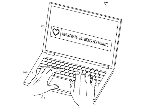 USPTO MacBook ヘルスケアセンサー